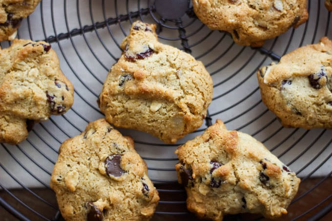 cherry almond chocolate chip cookies {gluten-free} | saltedplains.com