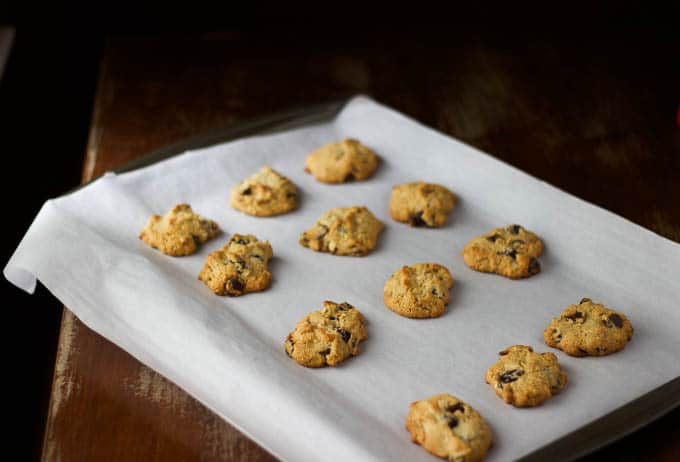 cherry almond chocolate chip cookies {gluten-free} | saltedplains.com