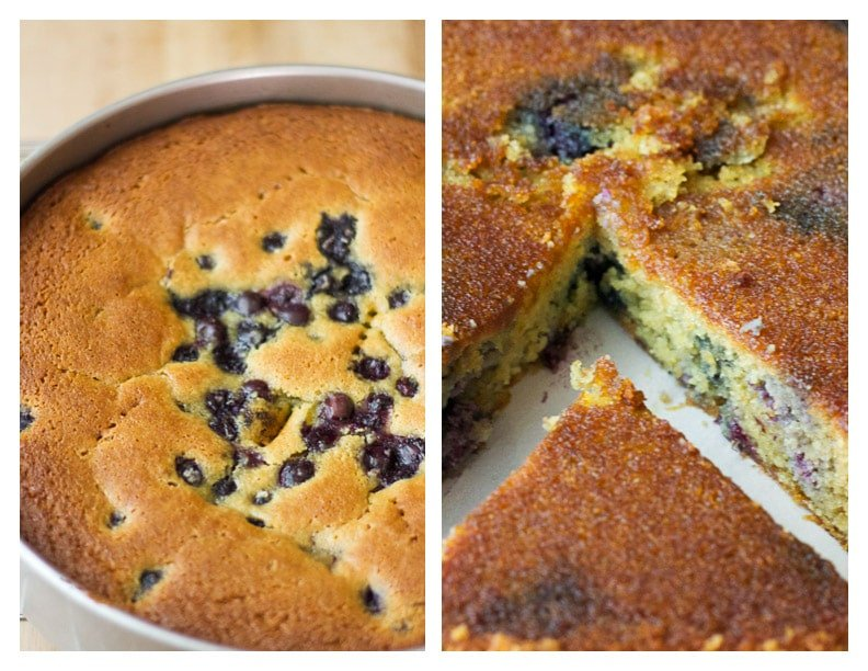 Blueberry Olive Oil Upside-Down Cake {gluten-free + refined sugar-free} | saltedplains.com
