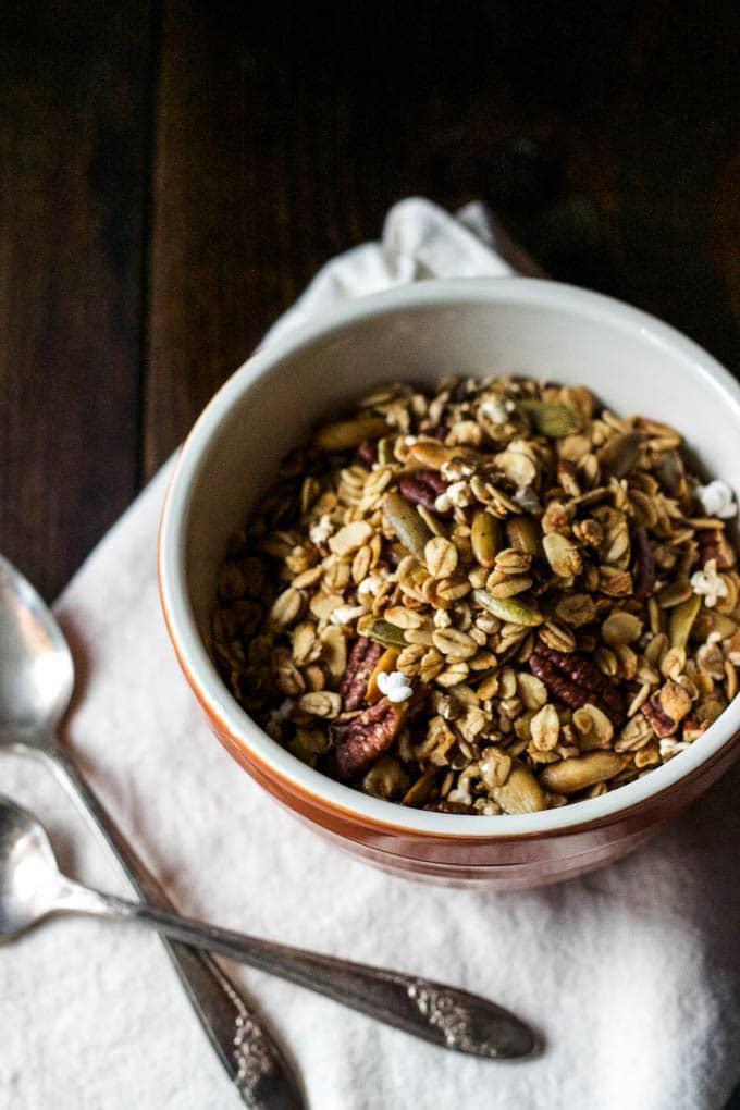 sorghum granola in bowl