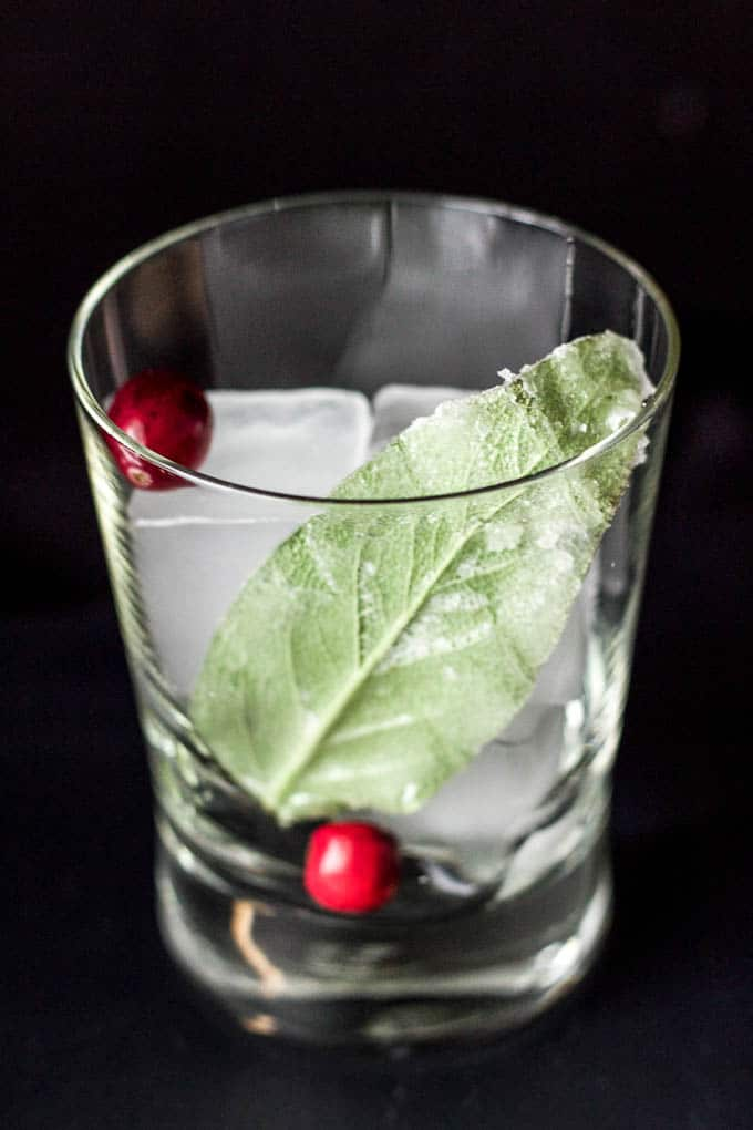 Simple holiday cocktail! #glutenfree | saltedplains.com