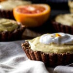 #Glutenfree #dairyfree blood orange mousse tarts | saltedplains.com