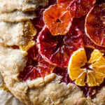 Gluten-free and refined sugar-free winter citrus galette | saltedplains.com