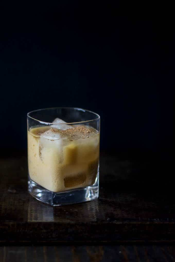 vegan bourbon milk punch #cocktail | saltedplains