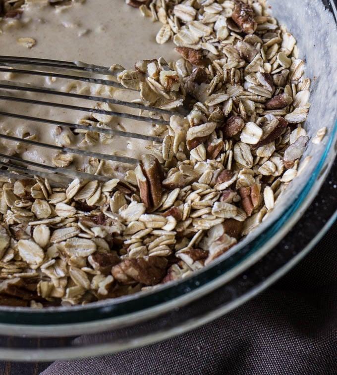 Gluten-Free Oatmeal Nut Pancakes | saltedplains.com