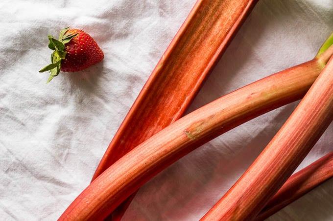 Strawberry Rhubarb Sorbet | saltedplains.com #glutenfree #dairyfree