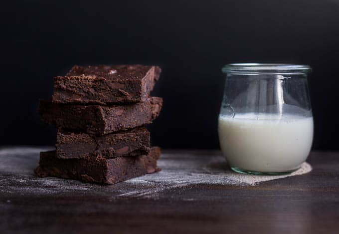 Fudgy Teff Brownies #glutenfree #refinedsugarfree | saltedplains.com
