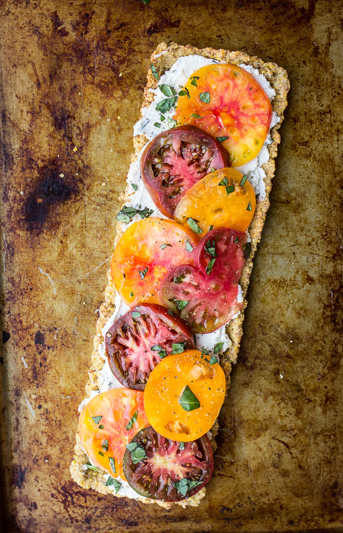 Heirloom Tomato and Ricotta Tart with a Cornmeal Almond Crust (Gluten ...