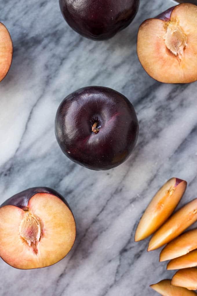 Gluten-Free Plum Cobbler #vegan #refinedsugarfree | saltedplains.com