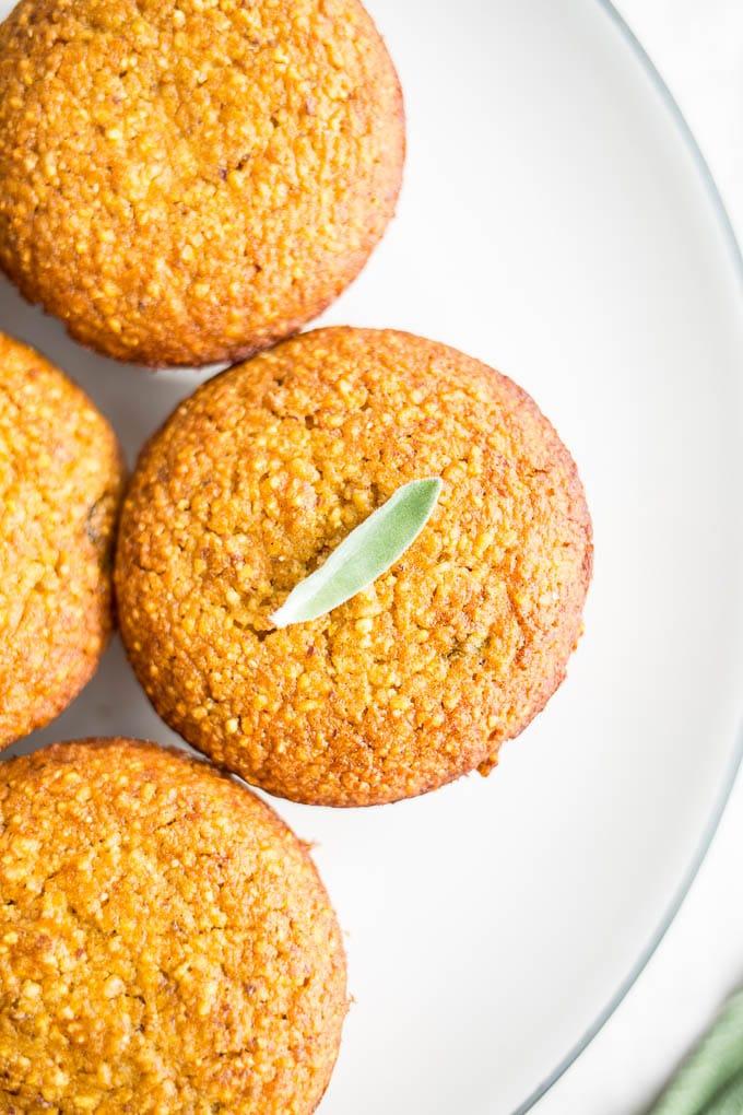 Butternut Squash Cornbread with Brown Butter Sage (gluten-free) | saltedplains.com