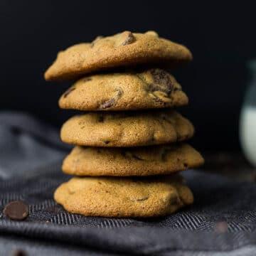 Coconut Sugar Chocolate Chip Cookies (gluten-free, refined sugar-free) | saltedplains.com
