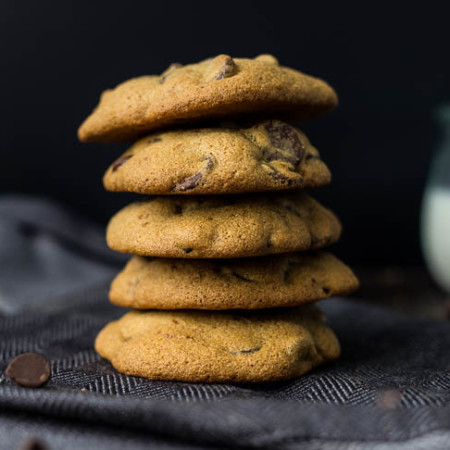 Coconut Sugar Chocolate Chip Cookies (gluten-free, refined sugar-free) | saltedplains.com