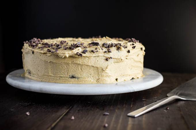 Chocolate Cake with Pumpkin Spice Frosting | gluten-free, dairy-free, refined sugar-free saltedplains.com