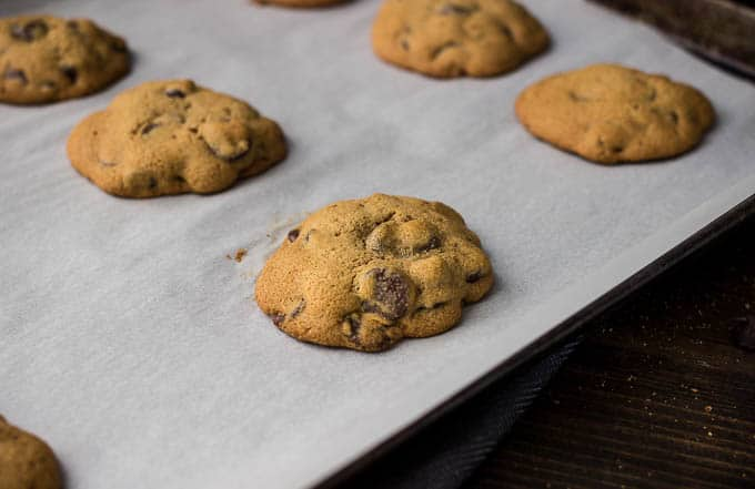 Coconut Sugar Chocolate Chip Cookies #glutenfree | saltedplains.com
