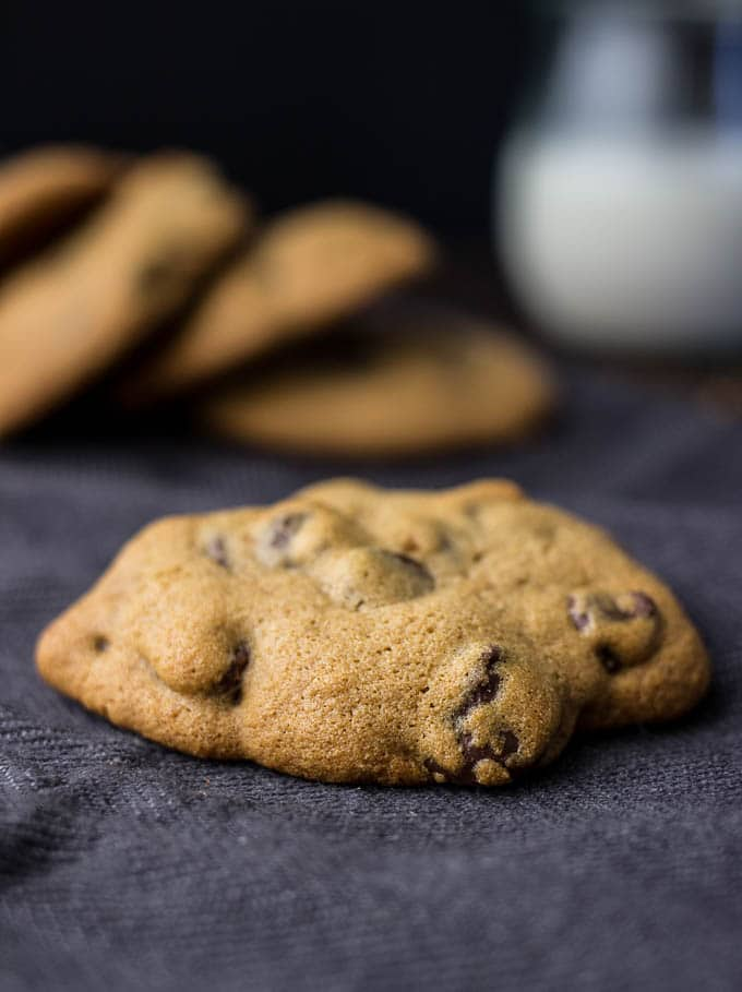 fresh baked cookies on napkin