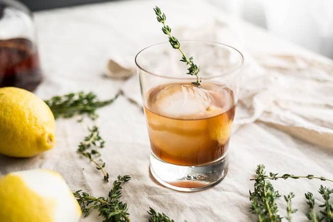 bourbon thyme cocktail-8