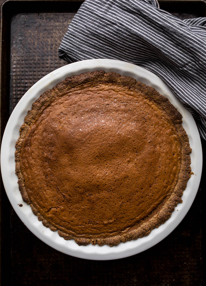 Carrot Pie with Walnut-Oat Crust (gluten-free, dairy-free, refined sugar-free) | saltedplains.com