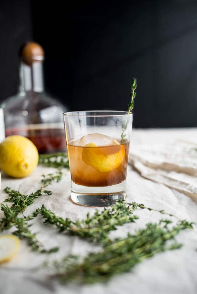 drink with orange peel