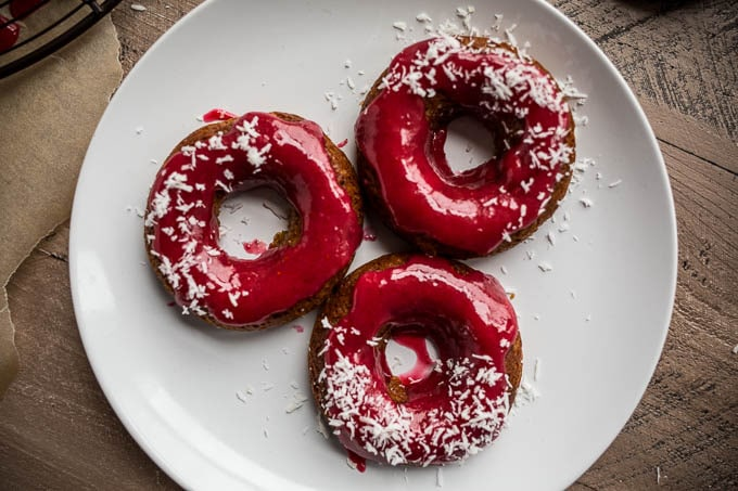Gingerbread Cake Donuts With Cranberry Glaze Gluten Free Vegan Saltedplains