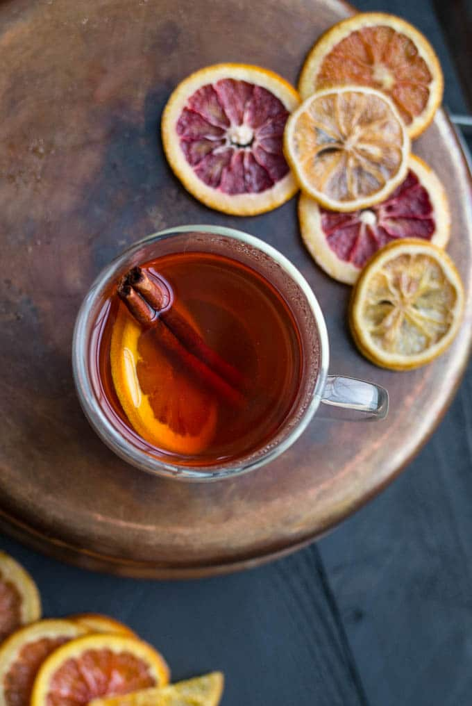 Winter Citrus Hot Toddy | saltedplains.com