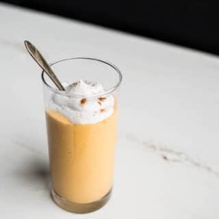 Persimmon Cardamom Milkshake (gluten-free, vegan) | saltedplains.com