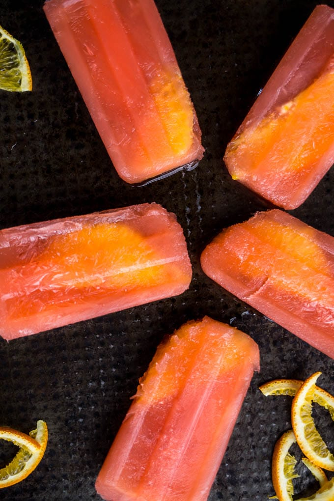 Hurricane Cocktail Popsicles | saltedplains.com