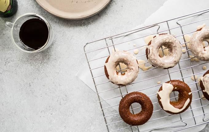 Irish Coffee Cake Donuts (gluten-free, dairy-free) | saltedplains.com