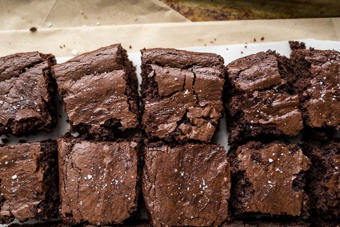Gluten-free Brownies (dairy-free, refined sugar-free) | saltedplains.com