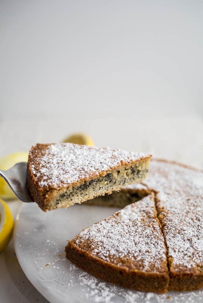 Gluten-Free Lemon Poppyseed Cake (dairy-free) | saltedplains.com