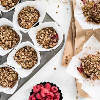 Raspberry Streusel Muffins from Heather Christo's Pure Delicious (gluten-free, vegan) | saltedplains.com