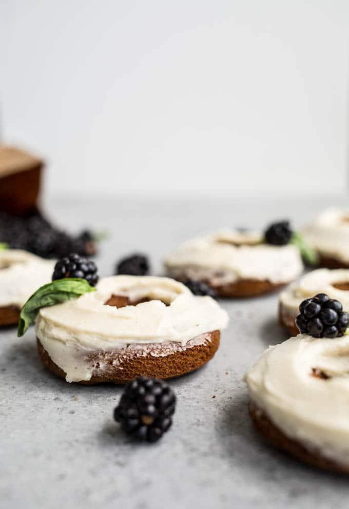 Blackberry Cheesecake Donuts (gluten-free) | saltedplains.com