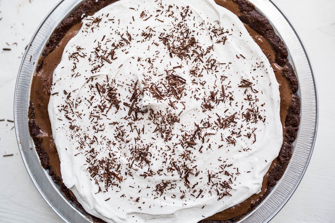 Chocolate Ice Cream Pie (Gluten-free, Vegan, Refined Sugar-free) | saltedplains.com