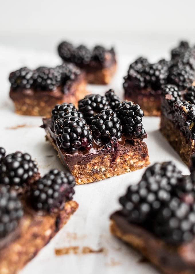 Blackberry Cashew Bars