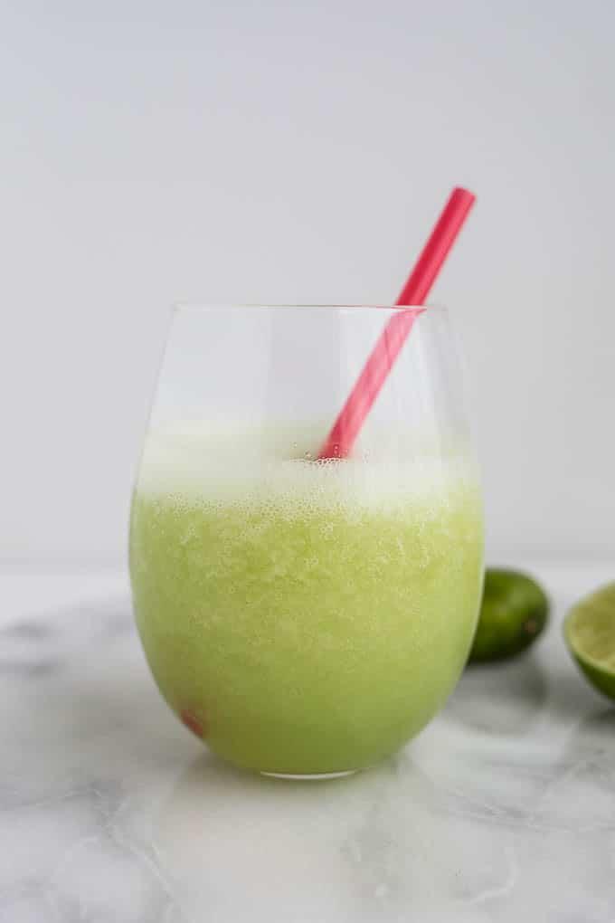 Frozen Honeydew Daiquiris (gluten-free, vegan, refined sugar-free) | saltedplains.com