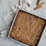 Gluten-Free Apple Crumb Cake recipe (dairy-free) | saltedplains.com