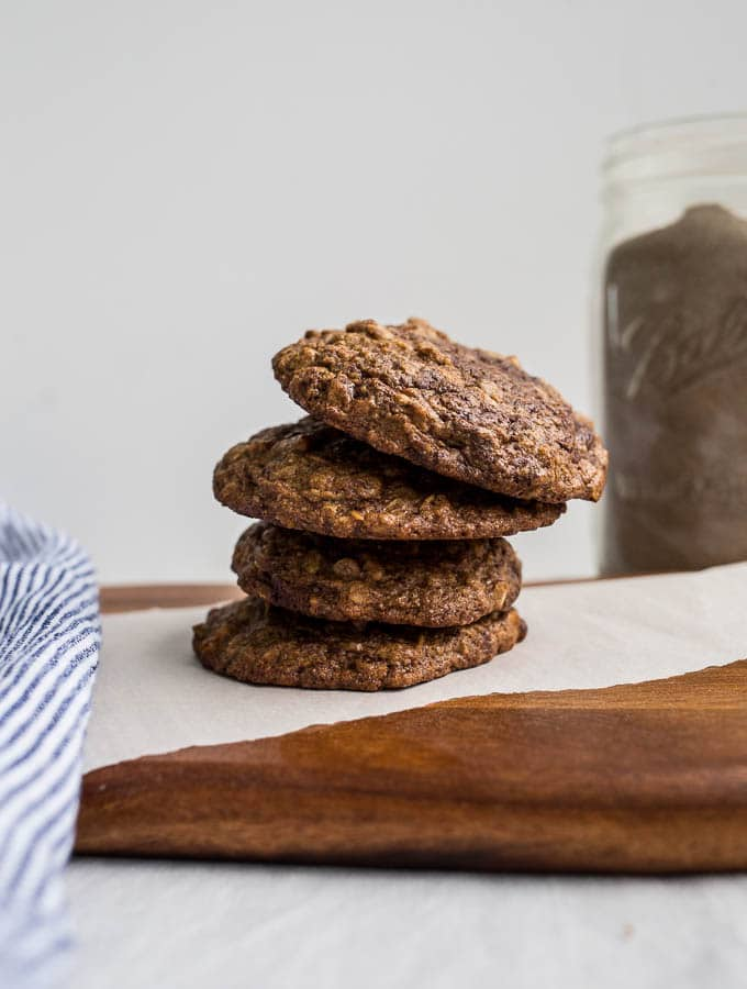 Teff Oatmeal Chocolate Chip Cookies from Alternative Baker (gluten-free) | saltedplains.com