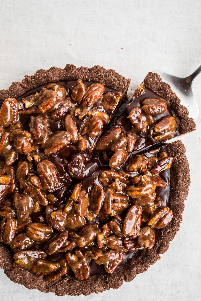 Gluten-Free Chocolate Pecan Tart (gluten-free, vegan) | saltedplains ...
