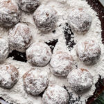 Chocolate Peppermint Snowball Cookies Recipe (gluten-free) | saltedplains.com