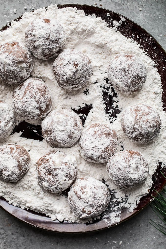 Chocolate Peppermint Snowball Cookies Recipe Gluten Free