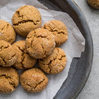 Chewy Gluten-Free Gingersnaps Recipe (dairy-free) | saltedplains.com