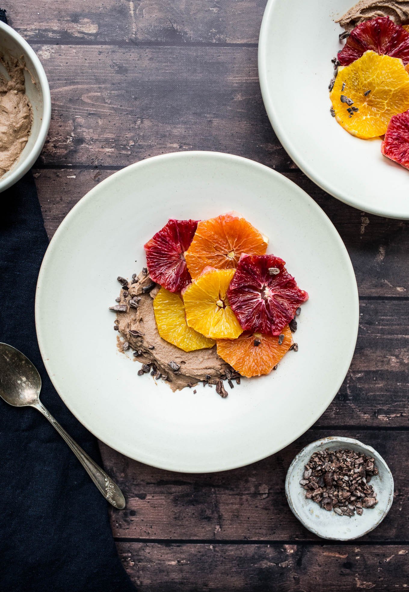 Roasted Winter Citrus with Chocolate Coconut Whipped Cream (gluten-free, vegan, refined sugar-free) | saltedplains.com