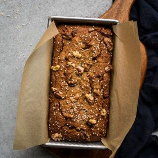 Gluten-Free Tahini Banana Bread (dairy-free, refined sugar-free) | saltedplains.com