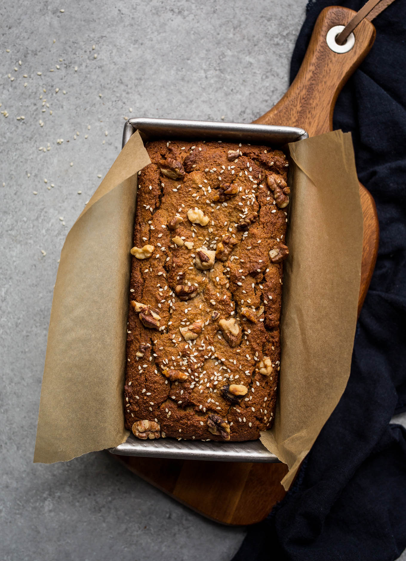 Gluten Free Tahini Banana Bread Recipe