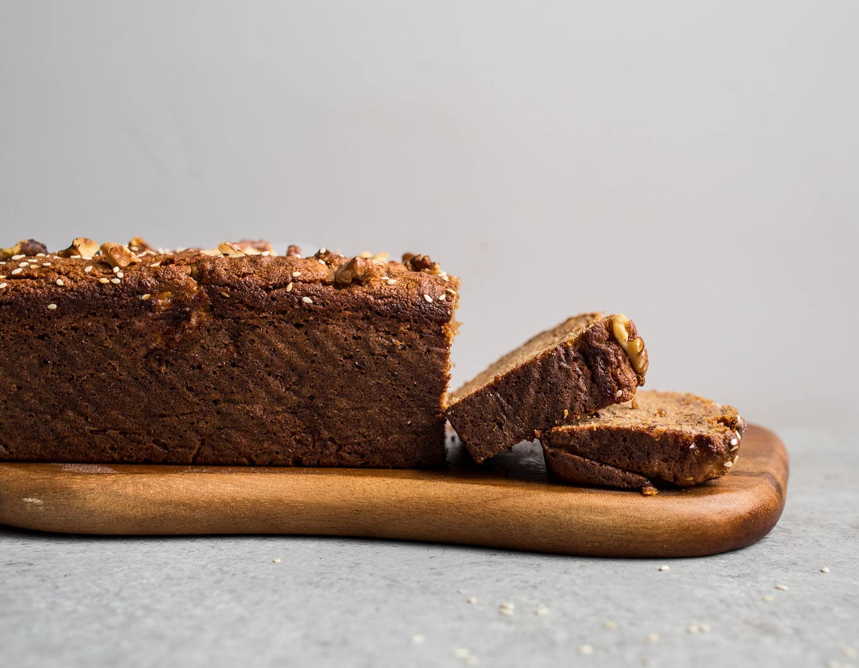 Gluten-Free Tahini Banana Bread (grain-free, dairy-free, refined sugar-free) | saltedplains.com