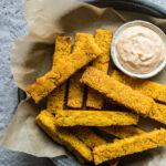 Baked Polenta Fries with Cajun Aioli (gluten-free) | saltedplains.com
