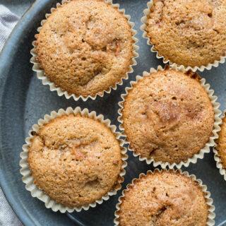 Cinnamon Rhubarb Muffins (gluten-free, dairy-free) | saltedplains.com