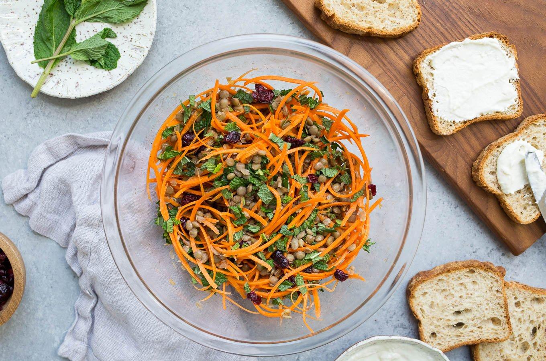 Lentil and Carrot Salad Tartines (gluten-free) | saltedplains.com