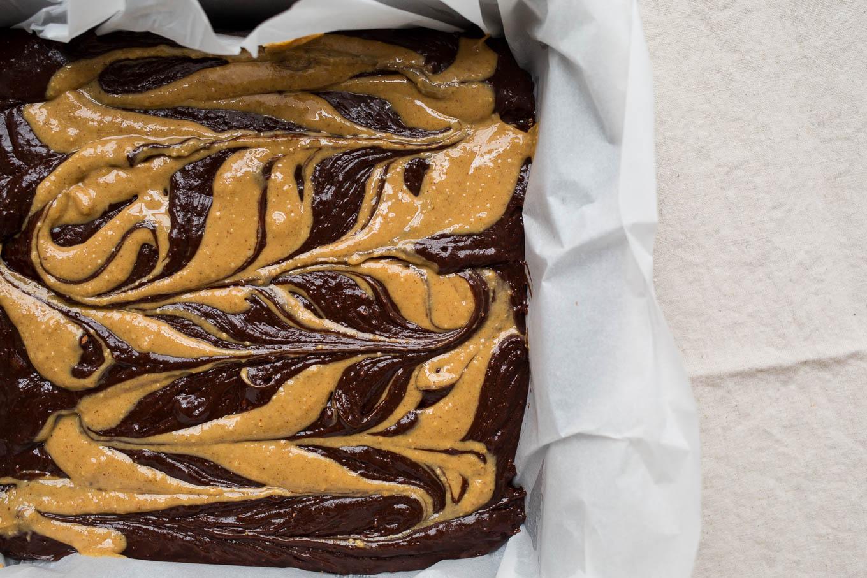 Peanut Butter Swirl Brownies (Gluten-Free, Dairy-Free) | saltedplains.com
