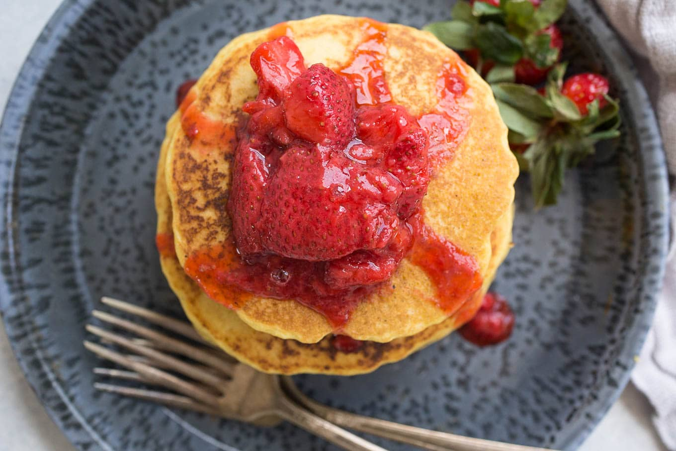 Corn-Flour-Pancakes-Strawberry-Compote-5