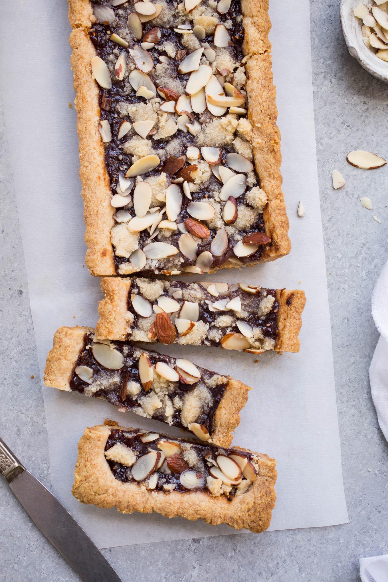 Almond Jam Tart (gluten-free, vegan)
